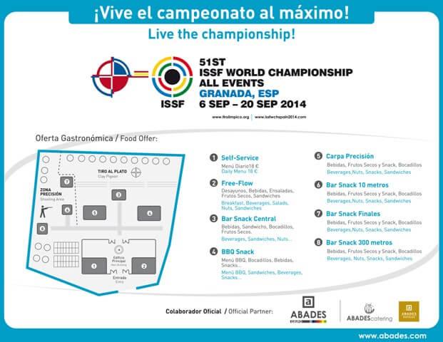 Mapa de pruebas del campeonato de tiro