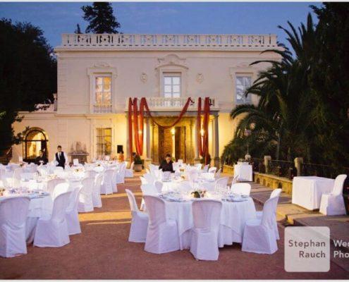 Carmen de los Mártires en banquete para boda