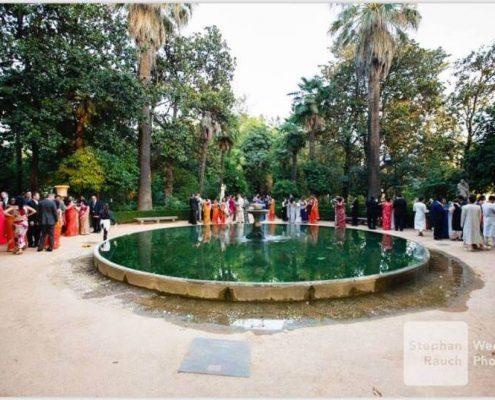Carmen de los Mártires en boda hindú