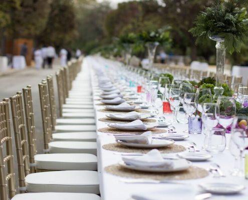 Mesa imperial para 400 invitados
