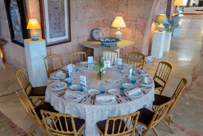 Mesa para boda en Sala de exposiciones del Pabellón de las Artes