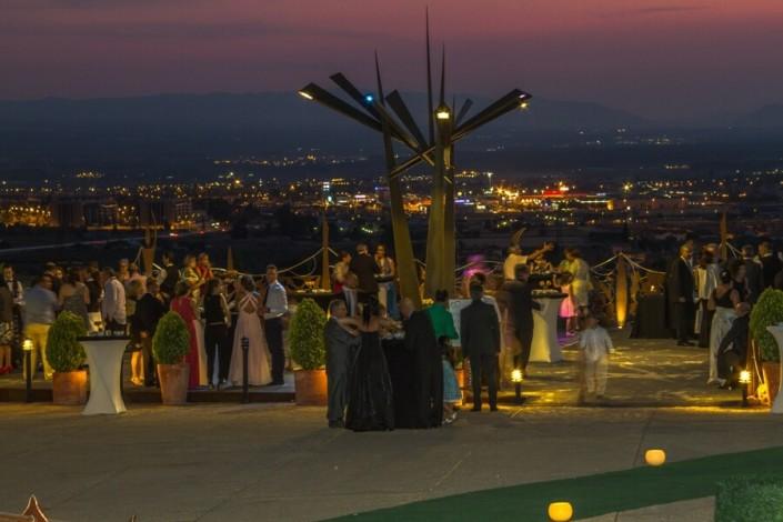Vista nocturna de Granada desde la Terraza del Sala de exposiciones del Pabellón de las Artes