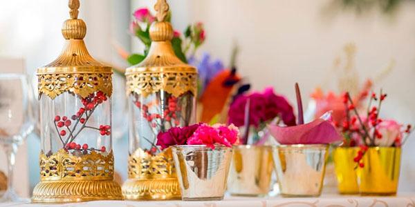Detalle de decoración para boda temática