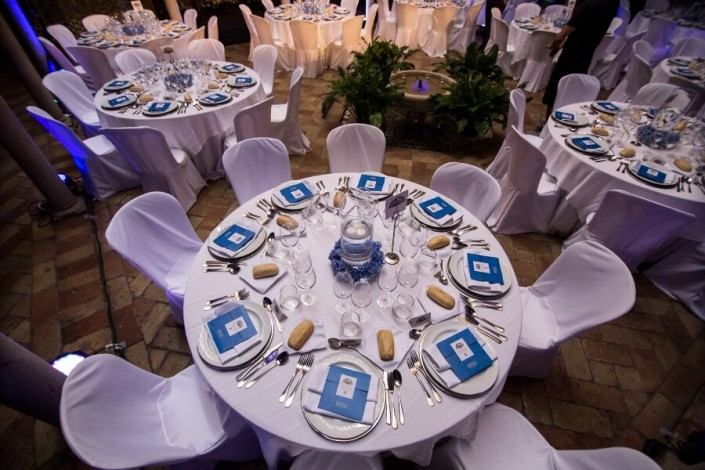 Detalle de mesa para bodas y eventos