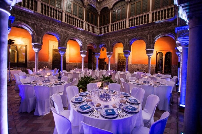 Banquete en centro de Sevilla