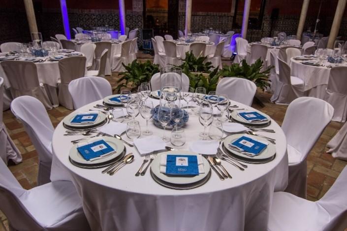 Detalle de mesa para evento en Casa Salinas
