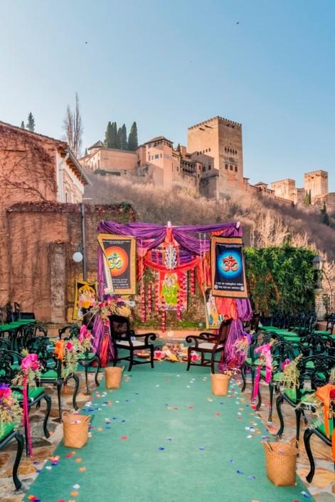Boda temática hindú celebrada en Granada