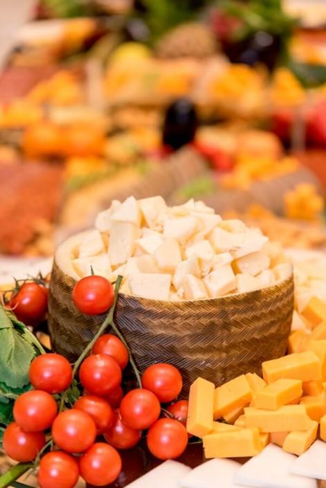 Catering de quesoa para un congreso