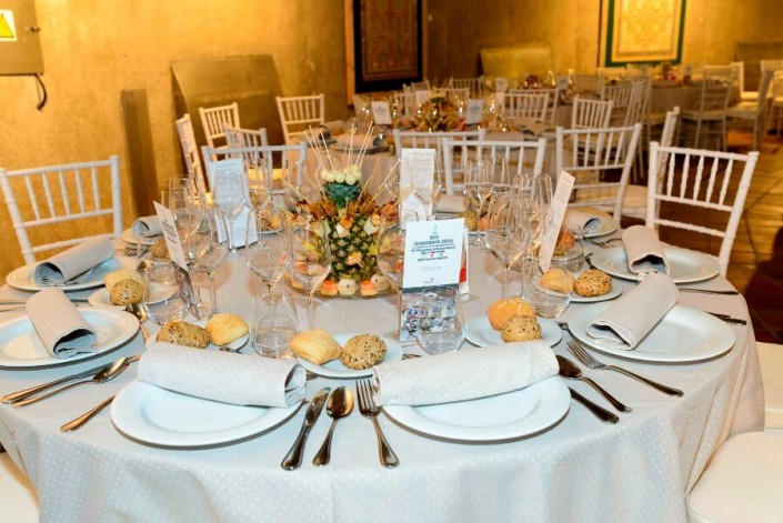 Catering y montaje para cena de negocios