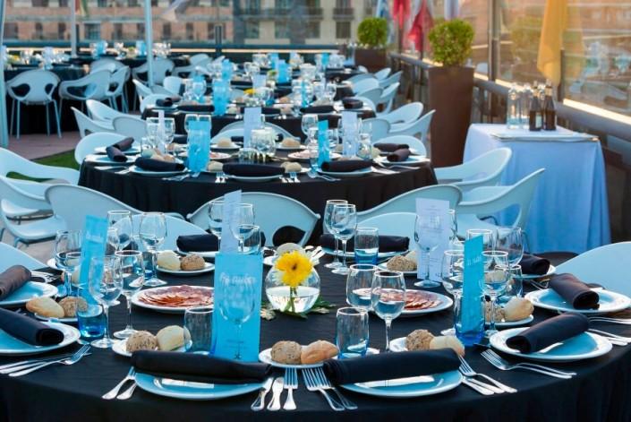 Cena de gala en La Nube, la terraza del Palacio de Congresos de Granada