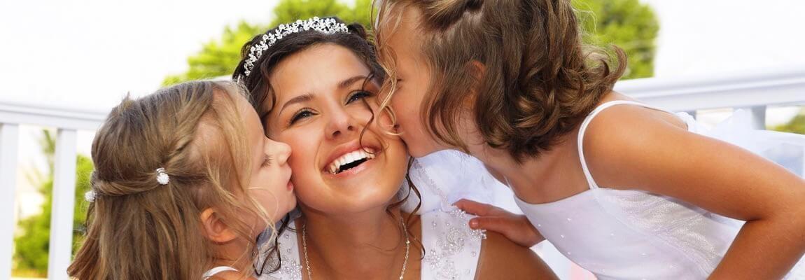 Novia en la celebración de su boda