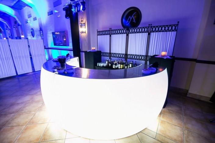 Montaje zona de baile para boda en Hacienda Atalaya