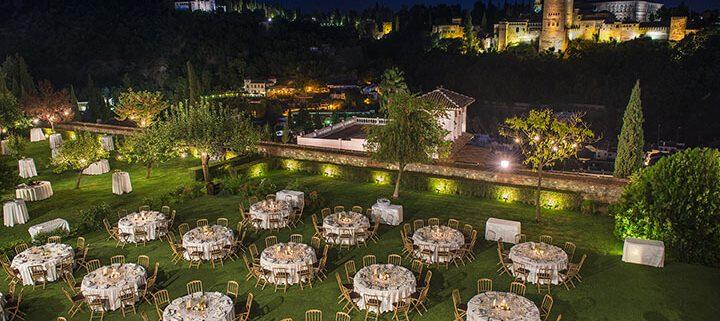 Catering con vistas a la Alhambra de Granada