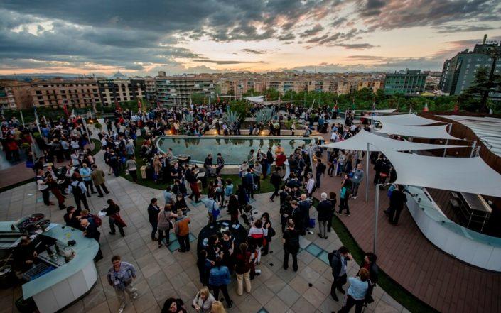 Catering para evento en la terraza la Nube