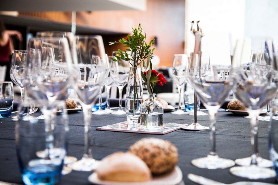 Decoración de mesas para premios ceaje