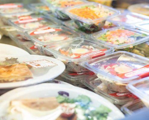 Alimentos preparados para atletas