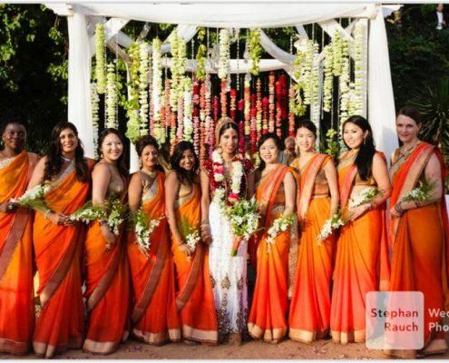 La novia en su boda hindú