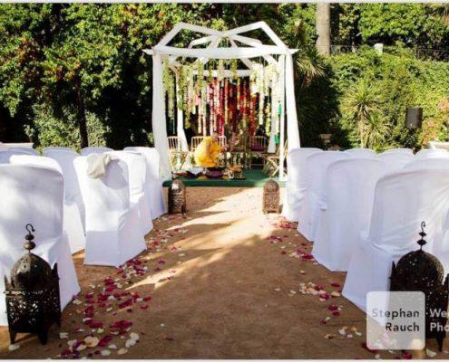 Altar para boda hindú en Granada