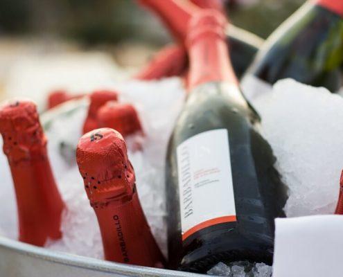 Bebidas frias para cena de gala