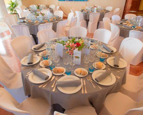 Montaje en banquete en Palacio de Quinta Alegre