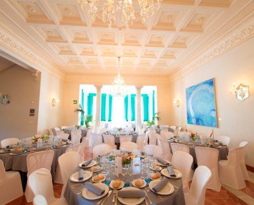 Banquete para cena clausuara del colegio de abogados de Granada