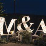 Letras gigantes para boda en Granada