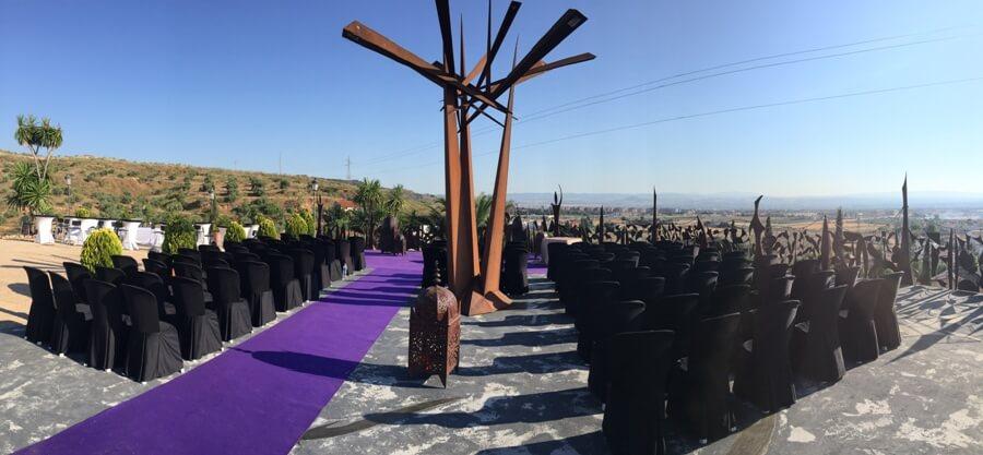 Montaje para boda civil en Granada