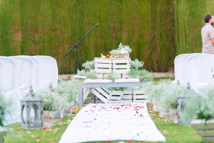 Montaje de altar personalizado para boda civil
