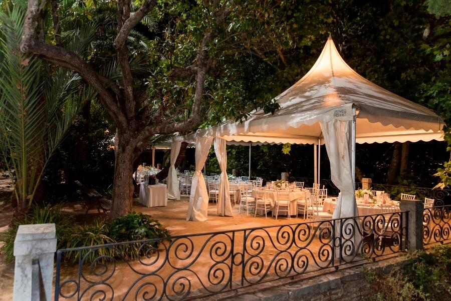 Carpa para una cena de gala en Granada