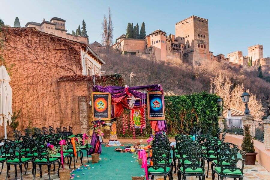 Boda temática hindú en Granada