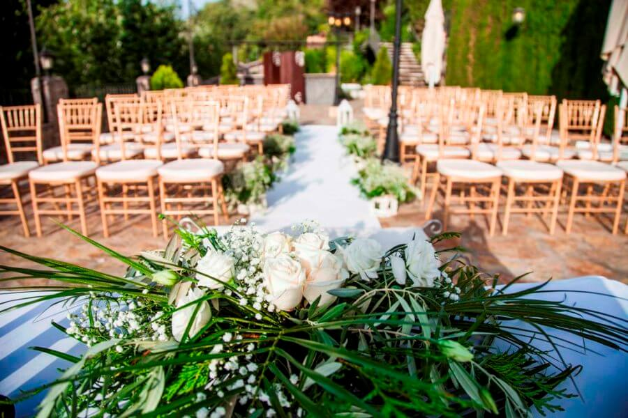 Montaje para celebración de boda civil