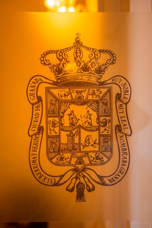Escudo del interior del Palacio