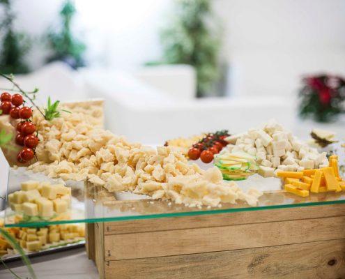 Selección de quesos por Abades Catering